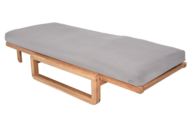 Authentic Single Futon With Cover Handloom Cloud Grey