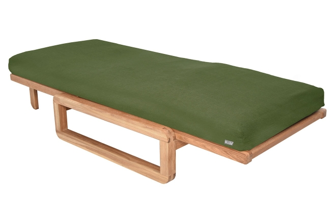 Authentic Single Futon With Cover Handloom Forest Green