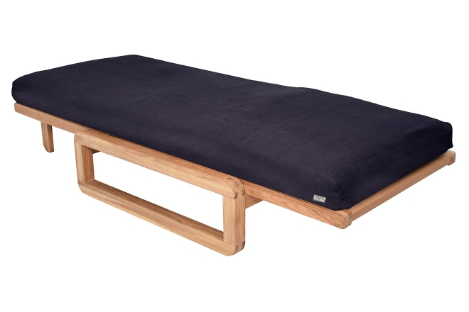 Authentic Single Futon With Cover Handloom Navy