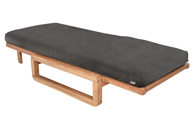 Authentic Single Futon With Cover Signature Charcoal