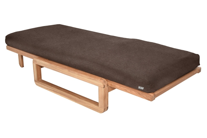 Comfort Single Futon With Cover Chequers Fieldmouse