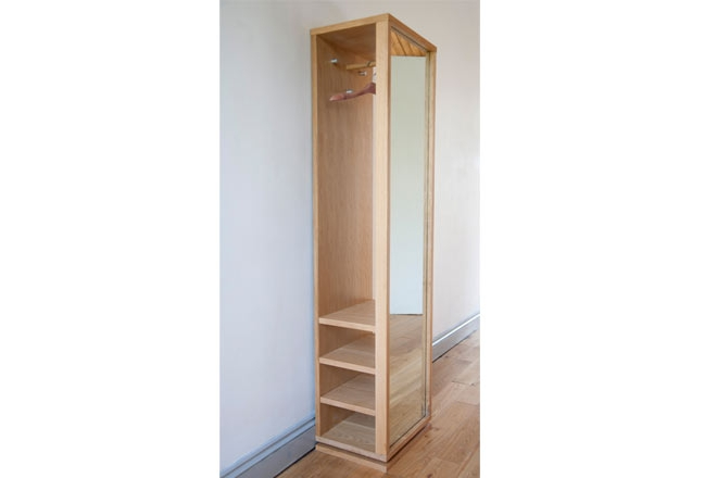 Oak Storage Mirror